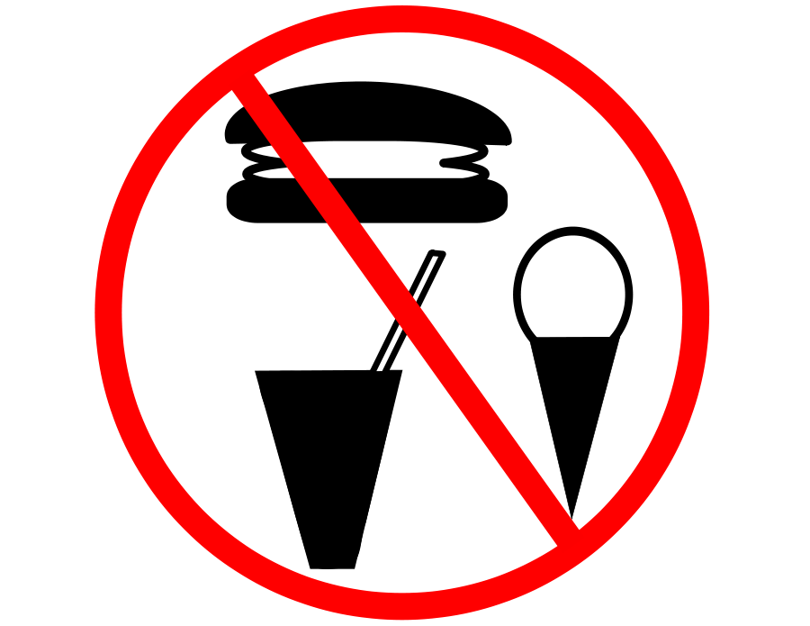 No Food Allowed. Clipart png free, No Food Allowed. transparent png