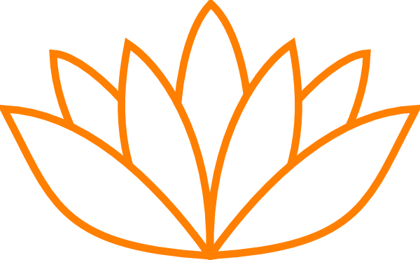 Orange Lotus Flower Picture Ii Clipart png free, Orange Lotus Flower Picture Ii transparent png