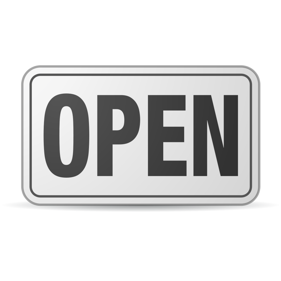 Open Sign Plastic Clipart png free, Open Sign Plastic transparent png