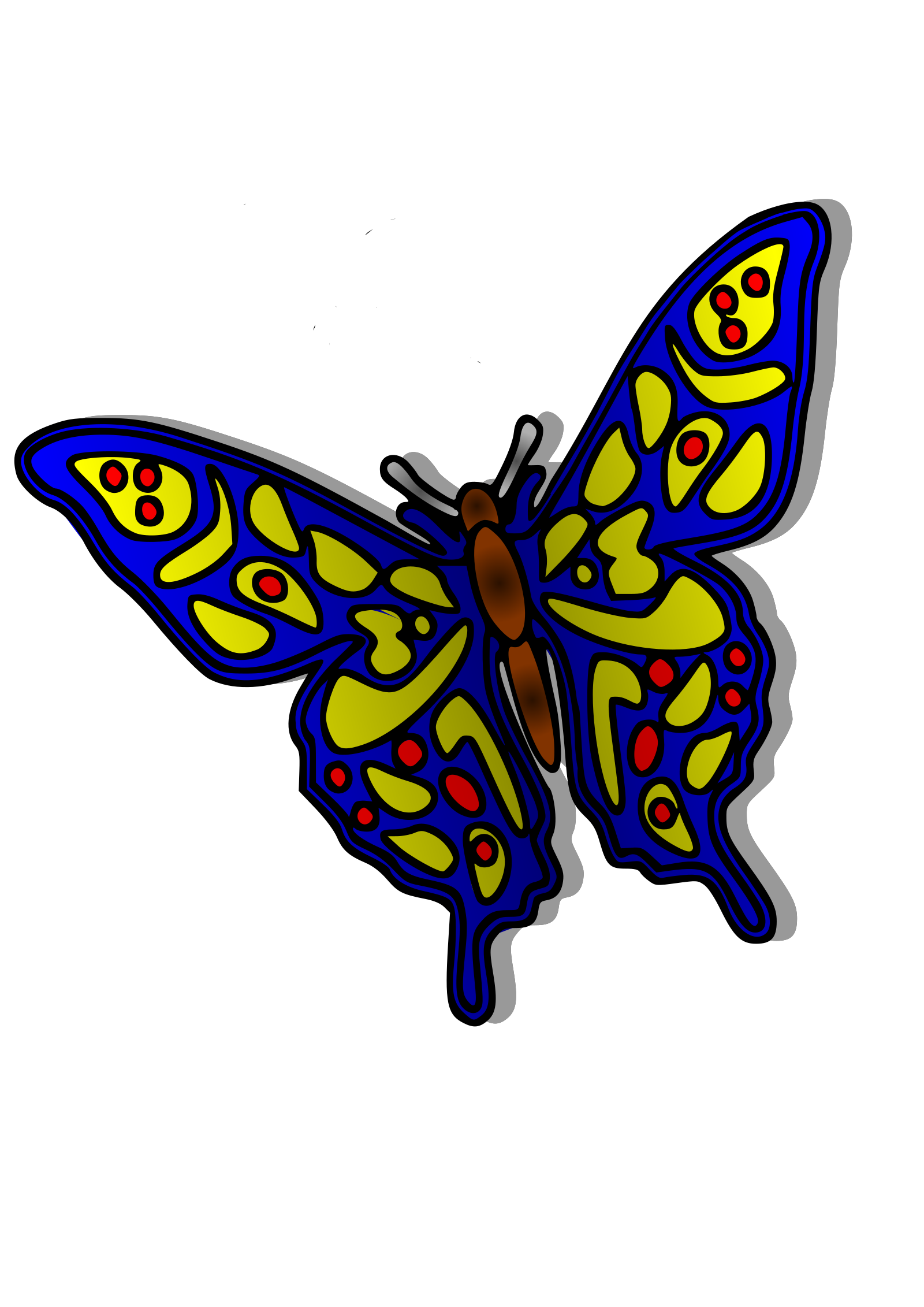 Nice Blue Butterfly Clipart png free, Nice Blue Butterfly transparent png