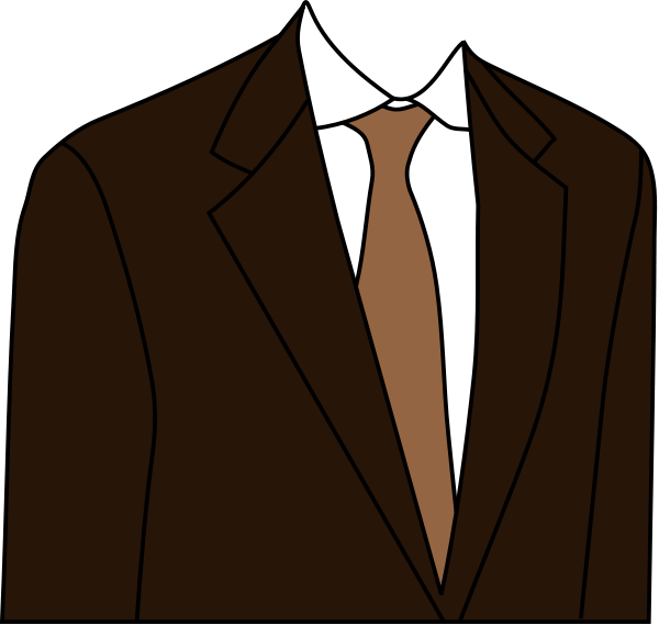 Brown Suit Clipart png free, Brown Suit transparent png