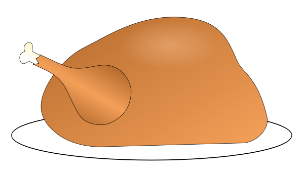 Turkey On Platter 01 Clipart png free, Turkey On Platter 01 transparent png
