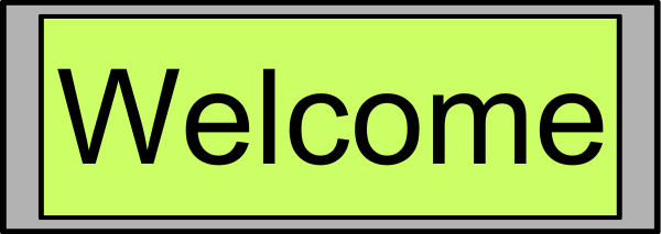 Digital Display With Welcome Text Clipart png free, Digital Display With Welcome Text transparent png