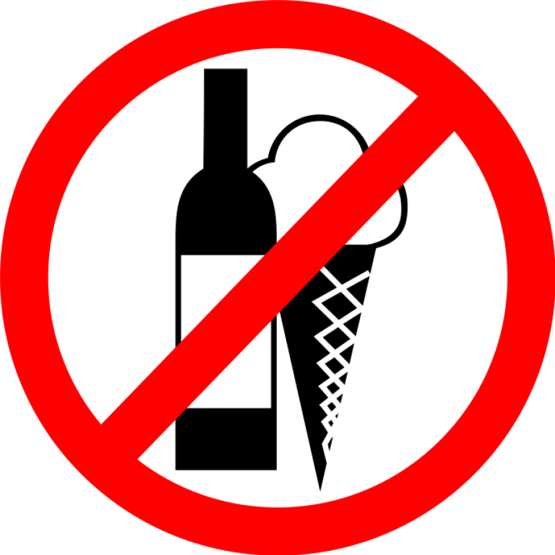 No Drinks, No Ice Cream Sign Clipart png free, No Drinks, No Ice Cream Sign transparent png