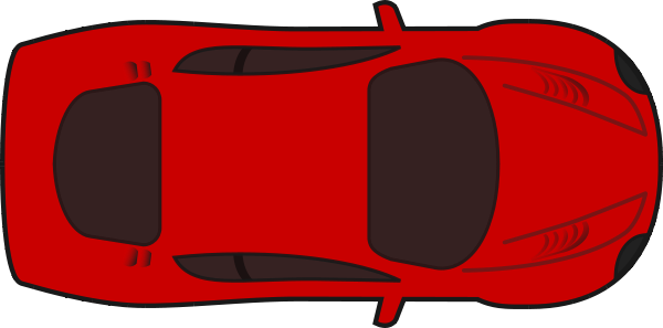 Red Racing Car Top View Clipart png free, Red Racing Car Top View transparent png