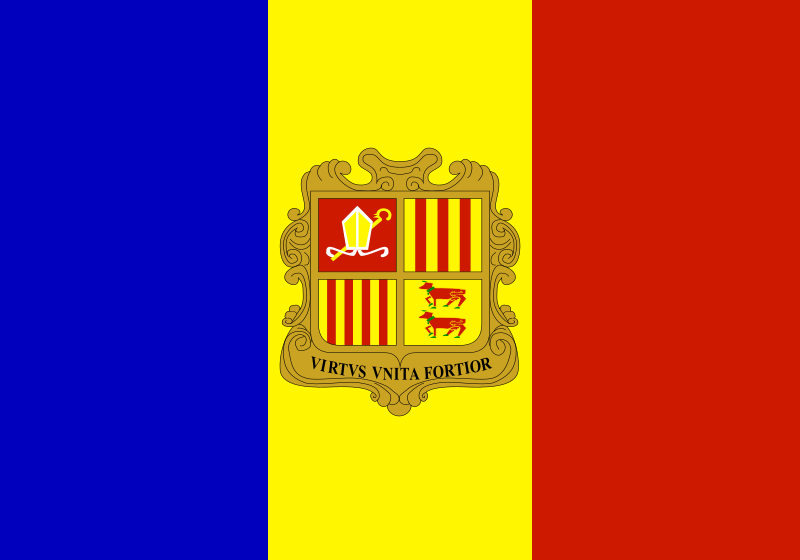 Flag Of Andorra Clipart png free, Flag Of Andorra transparent png