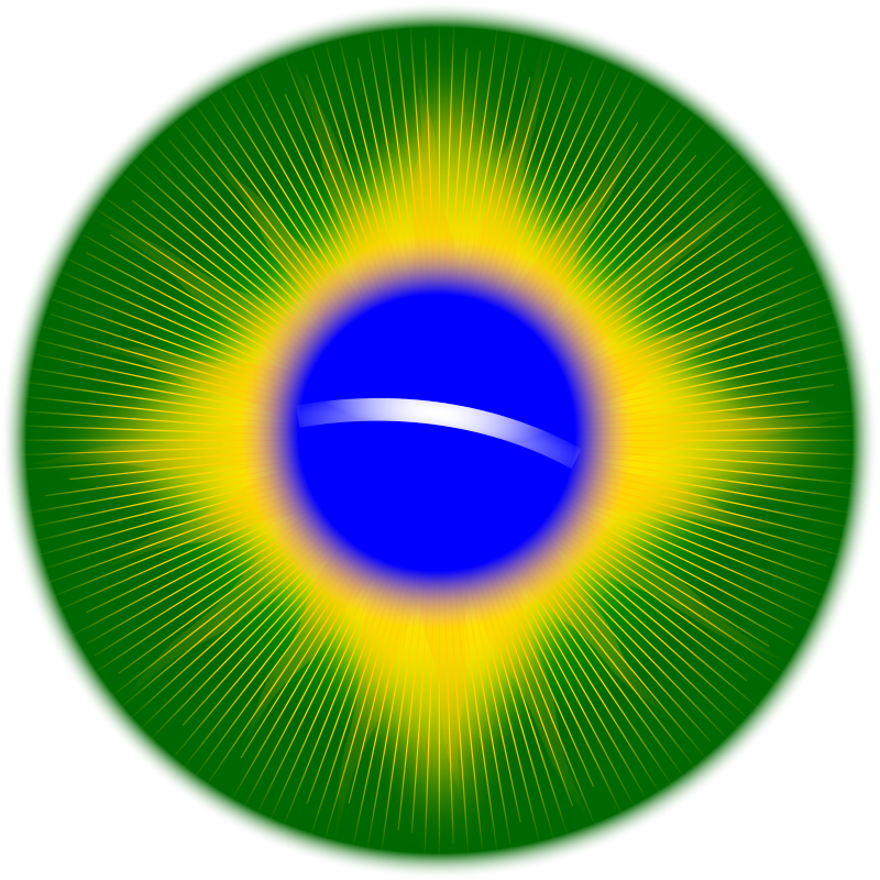 Rounded Brazil Flag Clipart png free, Rounded Brazil Flag transparent png