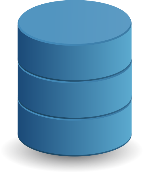 Blue Database Clipart png free, Blue Database transparent png