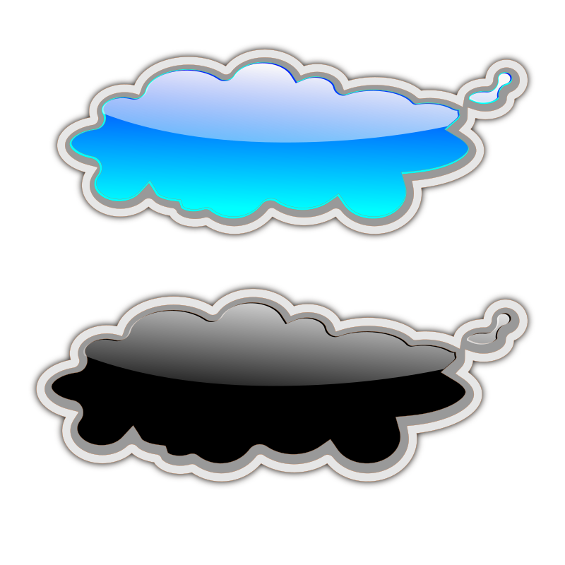 Glossy Clouds-2 Clipart png free, Glossy Clouds-2 transparent png