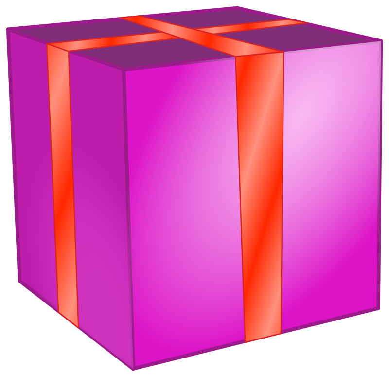 Gift Box Clipart png free, Gift Box transparent png