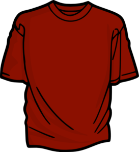 Red T-Shirt Clipart png free, Red T-Shirt transparent png