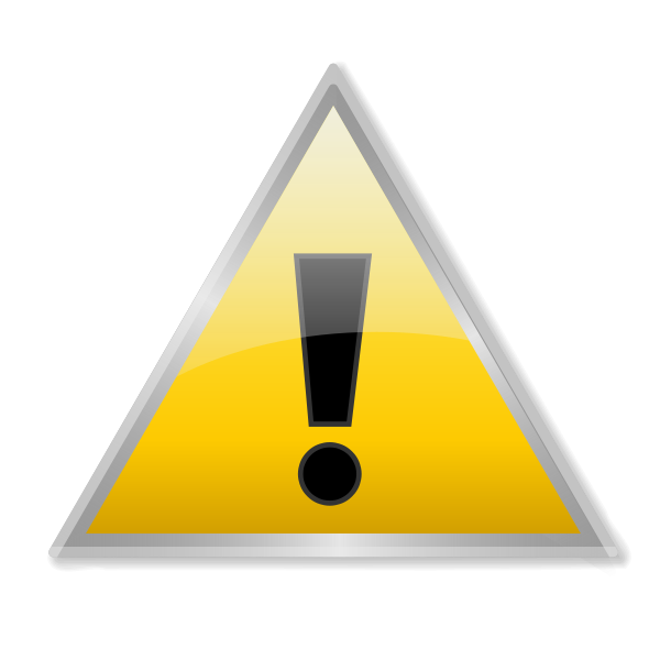 Warning Icon Vector Clipart png free, Warning Icon Vector transparent png