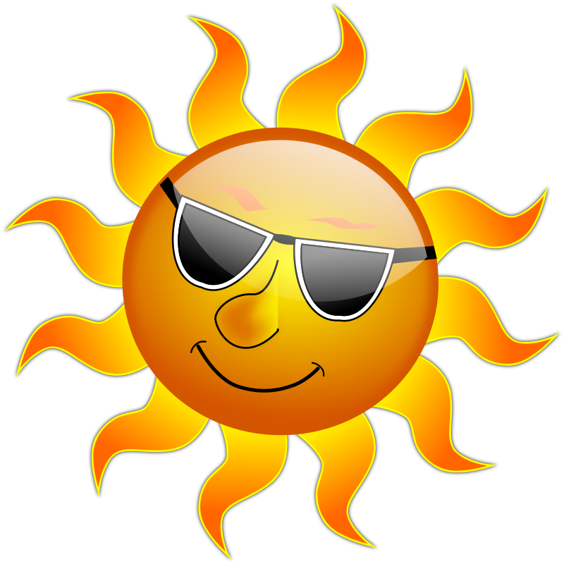 Summer Smile Sun Clipart png free, Summer Smile Sun transparent png