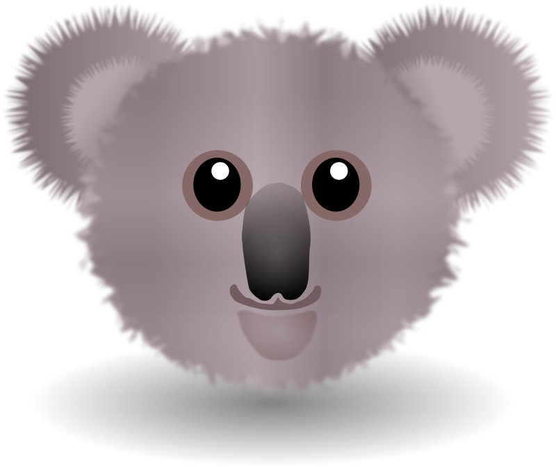 Funny Koala Face Cartoon Clipart png free, Funny Koala Face Cartoon transparent png