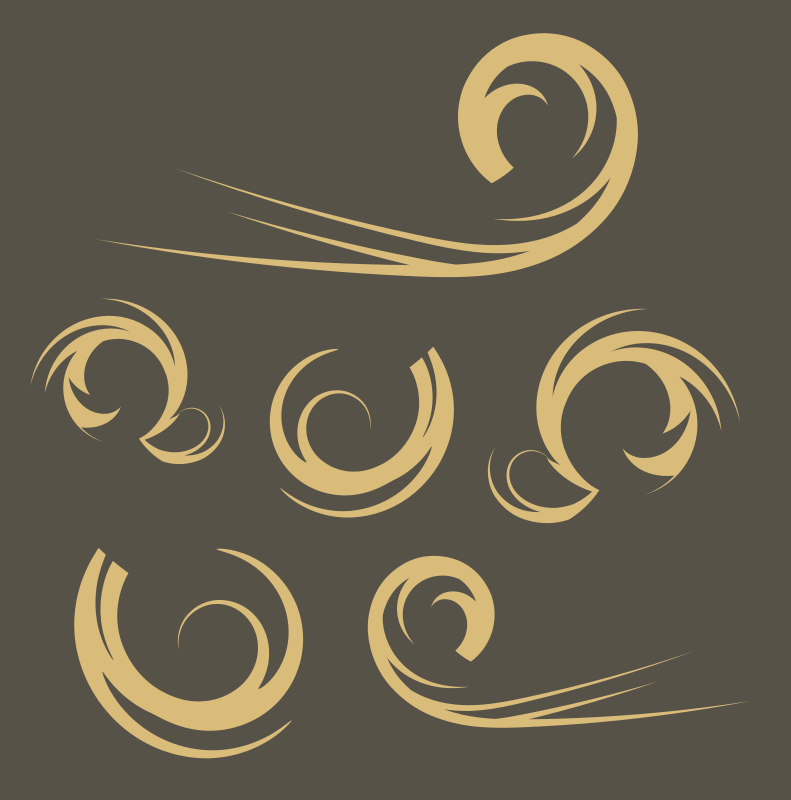 Swirls Clipart png free, Swirls transparent png