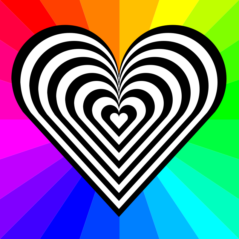 Zebra Heart 12 Stripes Clipart png free, Zebra Heart 12 Stripes transparent png