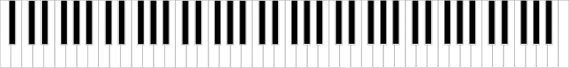 Standard 88-Key Piano Keyboard Clipart png free, Standard 88-Key Piano Keyboard transparent png