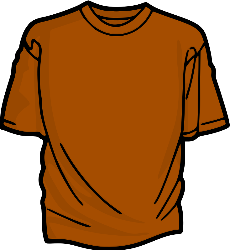 Orange T-Shirt Clipart png free, Orange T-Shirt transparent png