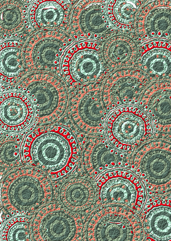 Seafoam Salmon Circle Pattern Scrapbook Paper Clipart png free, Seafoam Salmon Circle Pattern Scrapbook Paper transparent png