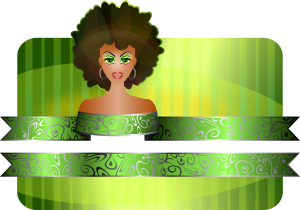 Afro Girl Border Clipart png free, Afro Girl Border transparent png