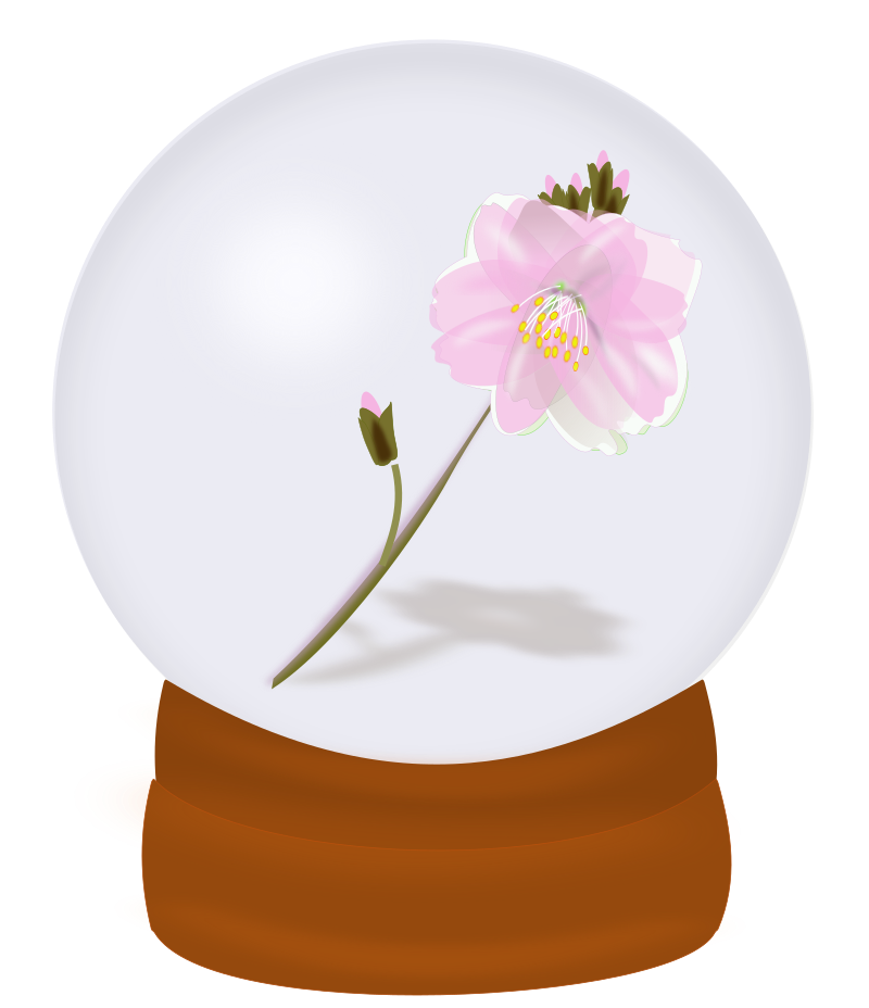 Flower Globe Clipart png free, Flower Globe transparent png
