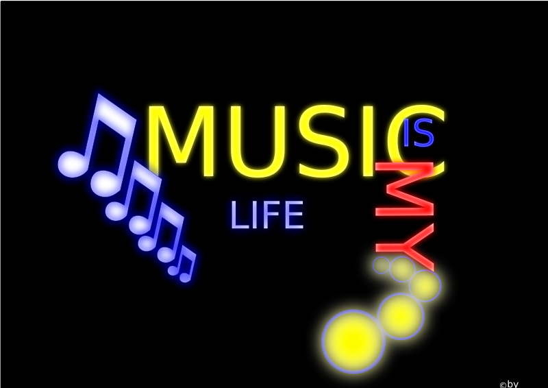 Music Is My Life Clipart png free, Music Is My Life transparent png