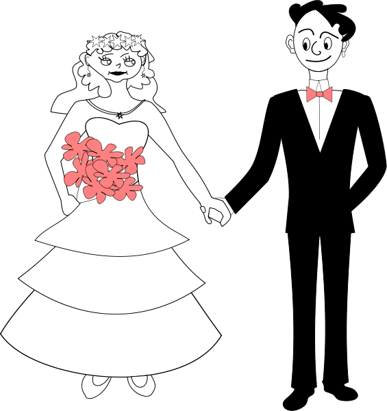 Bride And Groom Clipart png free, Bride And Groom transparent png