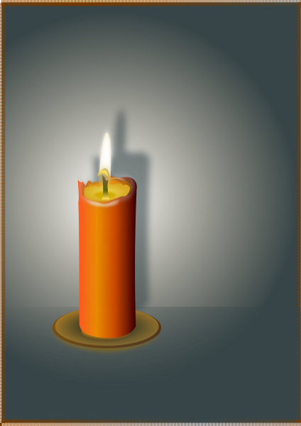 The Candle On Brown Clipart png free, The Candle On Brown transparent png