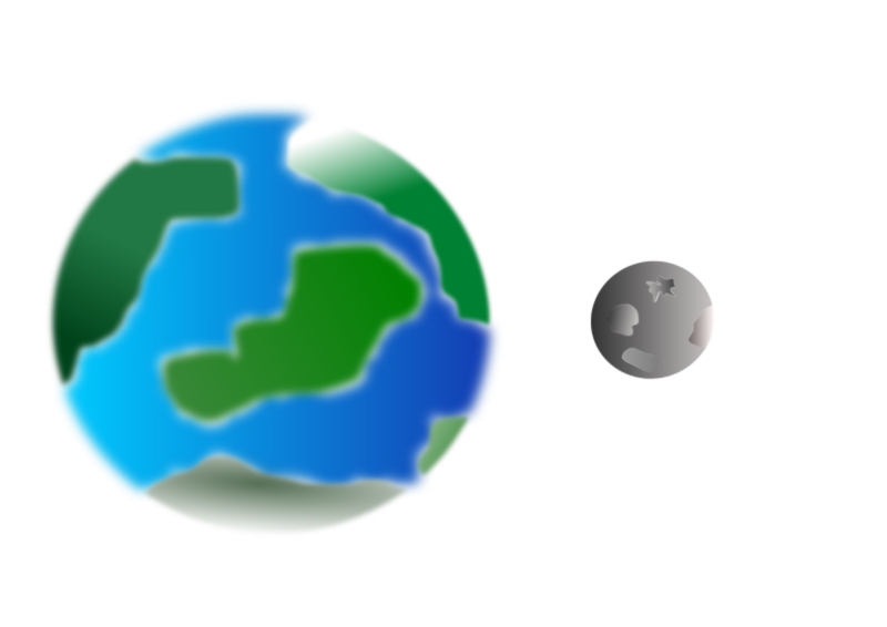 Planet With Moon Clipart png free, Planet With Moon transparent png