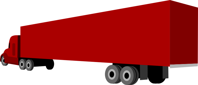 Truck And Trailer Clipart png free, Truck And Trailer transparent png