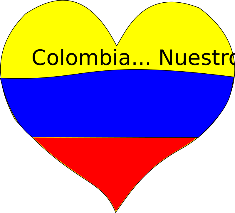 Corazon Colombiano Clipart png free, Corazon Colombiano transparent png