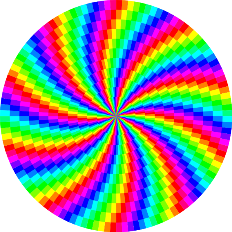 Rainbow Swirl 120Gon Clipart png free, Rainbow Swirl 120Gon transparent png
