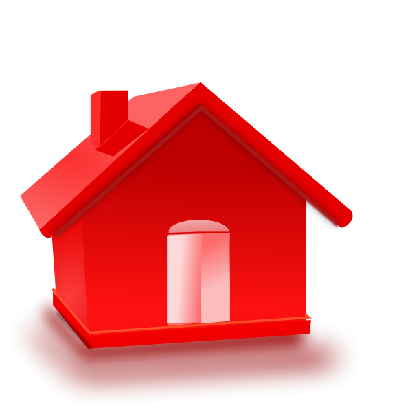 Red Home Clipart png free, Red Home transparent png