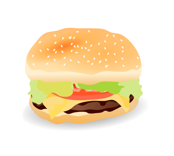 Cheese Burger Vector Clipart png free, Cheese Burger Vector transparent png