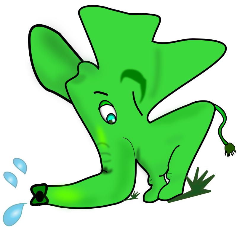 Little Green Elephant Clipart png free, Little Green Elephant transparent png