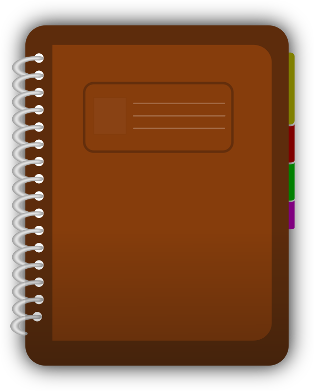 Diary Clipart png free, Diary transparent png