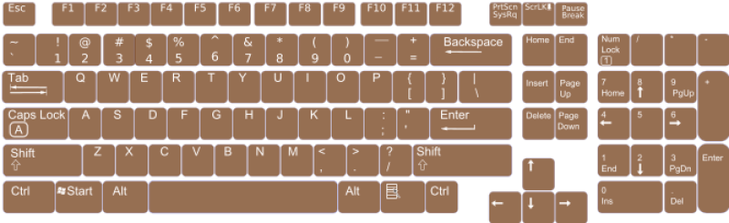 Us English Keyboard Layout Clipart png free, Us English Keyboard Layout transparent png