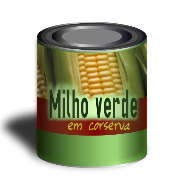 A Can Of Corn Clipart png free, A Can Of Corn transparent png