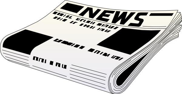 Newspaper Black White Clipart png free, Newspaper Black White transparent png
