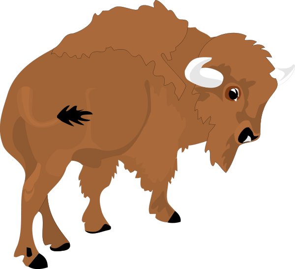 Bison Design Clipart png free, Bison Design transparent png