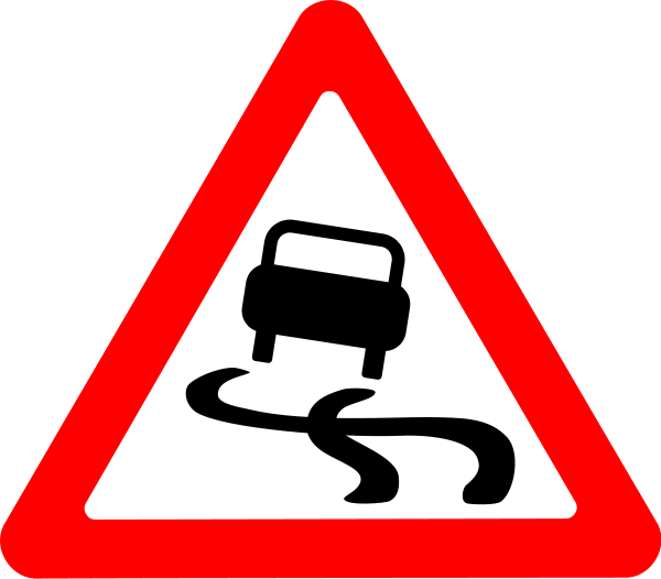 Roadsign Slippery Clipart png free, Roadsign Slippery transparent png