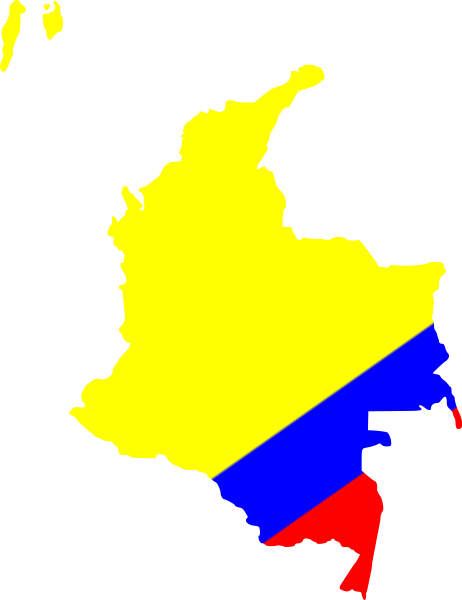 Map Of Colombia Clipart png free, Map Of Colombia transparent png