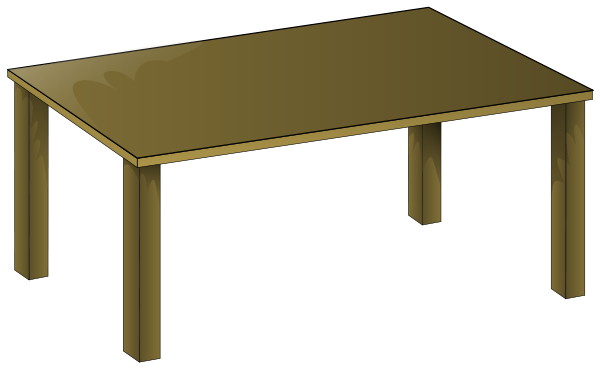 Wooden Table Clipart png free, Wooden Table transparent png