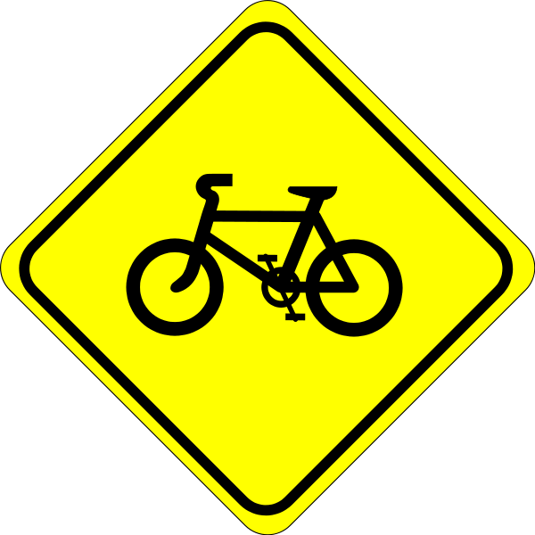 Roadsign Watch For Bicycles Clipart png free, Roadsign Watch For Bicycles transparent png
