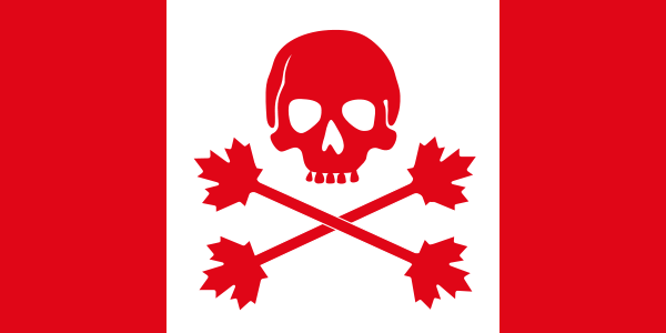 Pirate Flag Of Canada Clipart png free, Pirate Flag Of Canada transparent png