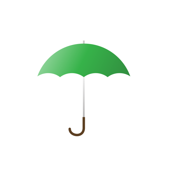 Green Umbrella Clipart png free, Green Umbrella transparent png