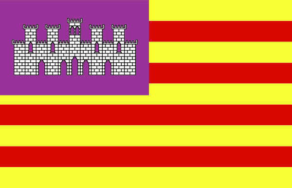 Flag Of Baleares Spain Clipart png free, Flag Of Baleares Spain transparent png
