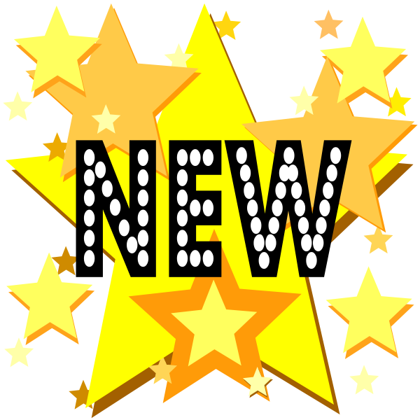 New On Stars Clipart png free, New On Stars transparent png