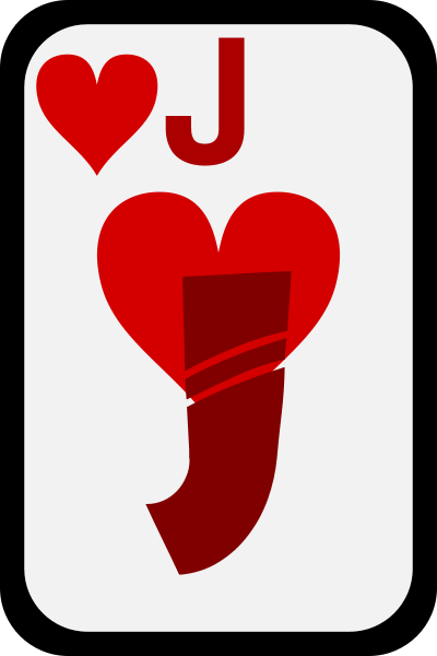 Jack Of Hearts Clipart png free, Jack Of Hearts transparent png