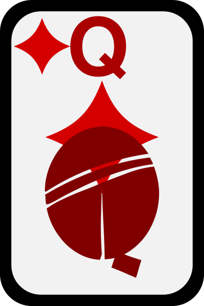 Queen Of Diamonds Clipart png free, Queen Of Diamonds transparent png